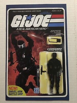 SALE G.I. Joe #215; Snake Eyes Action Figure; 12 Close-Up, HQ Pics; Nice Copy