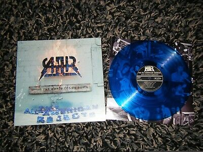 The All American Rejects When The World Comes Down Original Blue Vinyl LP