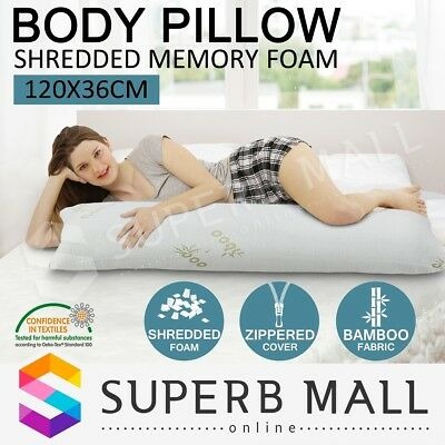Body Pillow Memory Foam Full Large Natural Maternity Pregnancy Sleeping Support