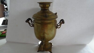 Very Rare Antique Alexander Imperial Small Russian Brass Samovar 11""