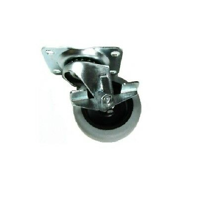 "One Swivel Plate Caster and 3"" Gray Non-Marking Wheel and 125 lb. Rating"