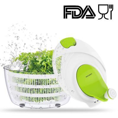 Salad Spinner Dryer, Cooking Grips Salad Spinner ,BPA Free Certified, Easy Spin