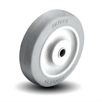 "Colson Non Marking Gray Performa Soft Rubber Wheel 5"" x1-1/4"" with Plain Bearing"