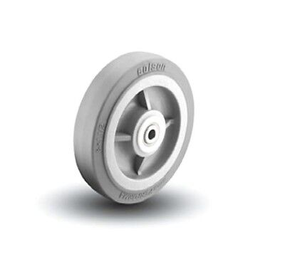 "Colson Performa Rubber Wheel 8"" x 1-1/2"" Wide with Soft Gray Non Marking Wheel"