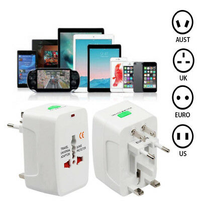 Universal All in One Travel Adapter Wall Charger AC Power Plug AU UK US EU