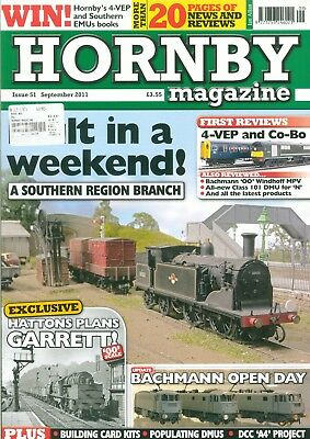 4 x Hornby Magazines, Sept - Dec 2011 Issue 51 - 54