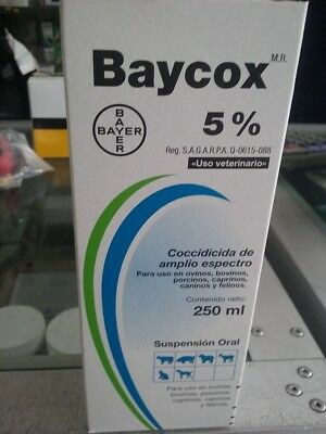Baycox 5% Oral coccidiocide pig swine beef cattle 250 ml (USA Seller)