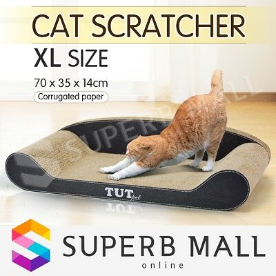 Cat Scratching Post Cat Toys Pet Post Scratcher Gym Toy Corrugated Cardboard-XL