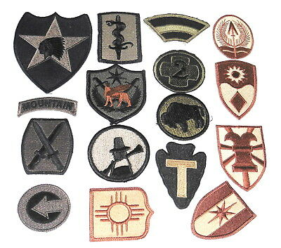 Iraq or Gulf War era .US Army Unit Shoulder patch collection of 16