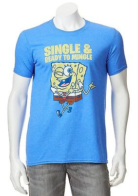 Spongebob Squarepants Single & Ready to Mingle T-Shirt - Men's L - New w/Tags!