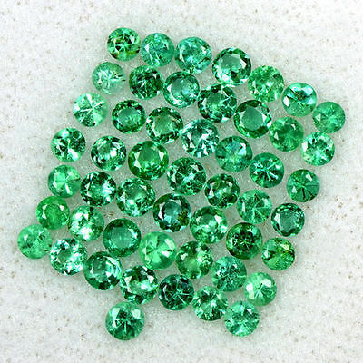 2.66 Cts Natural 2.5 mm Emerald Loose Fine Gemstone Round Diamond Cut Lot Zambia