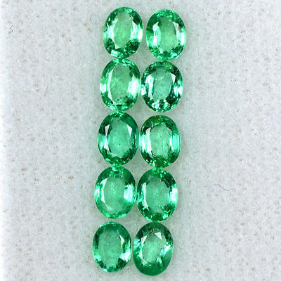 2.40 Cts Natural Top Green Emerald Oval Cut Lot Zambia Untreated Loose Gemstone