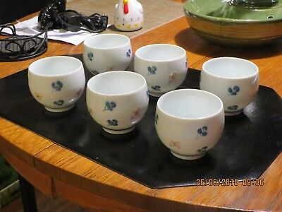 Asian porcelain tea cups