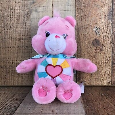 """Care Bear Hopeful Heart 2017 Pink 9"""" Soft Plush Ages 2+ Kids Collectors"""