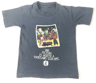 """90s Youth Goosebumps One Picture Worth Thousand Screams T Shirt Rare 13""""x17"""""""
