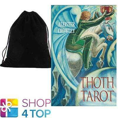 Aleister Crowley Thoth Tarot - Pocket Deck Cards Esoteric Agm With Velvet Bag