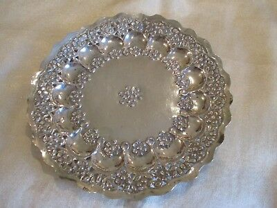 Antique Persian / Indian 900 Sterling Silver Dish Weighs 83 Grams Hand Worked