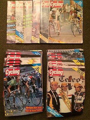 Very Rare 1985 Cycling Magazine Collection Almost All Copies from 1985 Weekly
