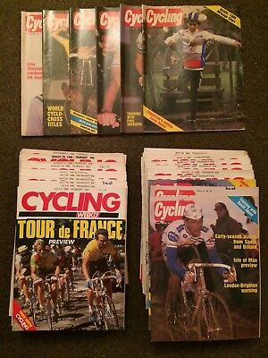 Very Rare 1986 Cycling Magazine Collection Almost All Copies from 1986 Weekly
