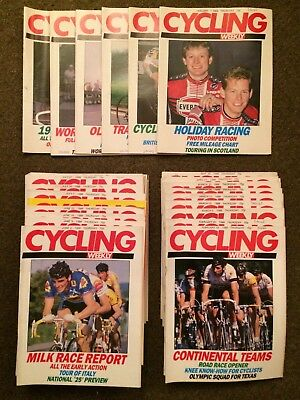 Very Rare 1988 Cycling Magazine Collection Almost All Copies from 1988 Weekly