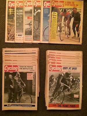 Very Rare 1975 Cycling Magazine Collection Almost All Copies from 1975 Weekly