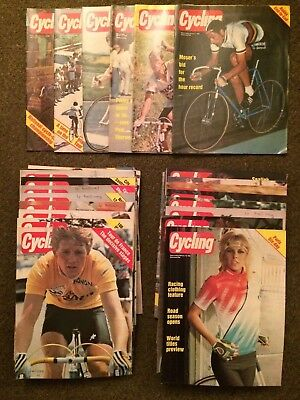 Very Rare 1984 Cycling Magazine Collection Almost All Copies from 1984 Weekly