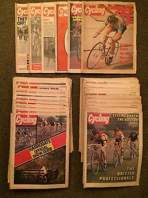 Very Rare 1976 Cycling Magazine Collection Almost All Copies from 1976 Weekly