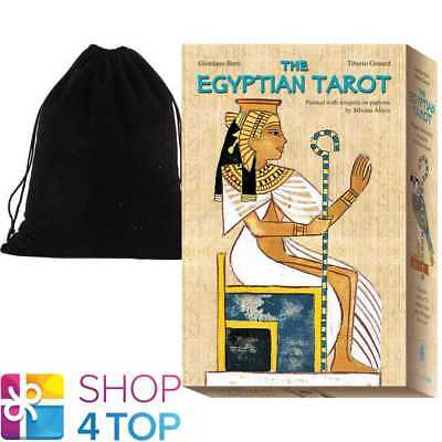 The Egyptian Tarot Cards Book Set Esoteric Lo Scarabeo With Velvet Bag New