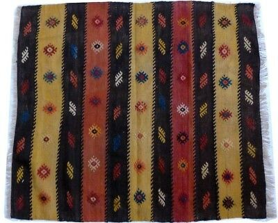 kilim Turc Traditionnel Oriental hand made 103 cm x 93 cm  N° 176