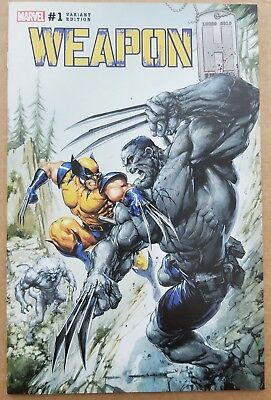 Weapon H #1 Clayton Crain Color  Variant Limited To 3000 Marvel