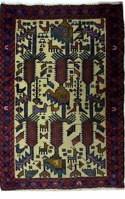 Tapis Persan Traditionnel Oriental hand made 120 cm x 88 cm  N° 67