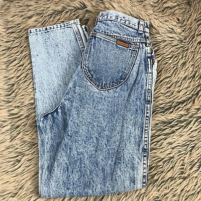 Vtg 90s Gitano PS Tapered High Rise Mom Denim Jeans Size 12 Acid Wash Womens