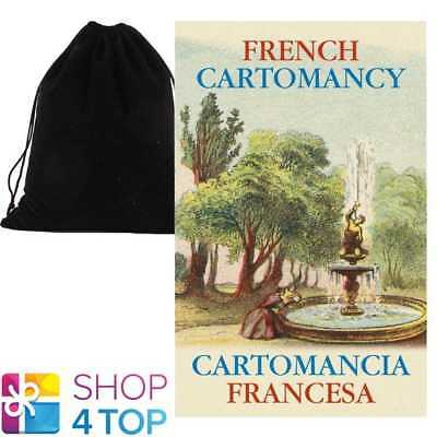 French Cartomancy Oracle Cards Deck Esoteric Lo Scarabeo With Velvet Bag New