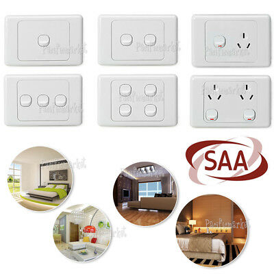 NEW 10 Amp 240V Double Power Point Wall Socket outlet GPO light switch Plate  OZ