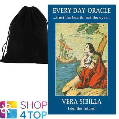 Every Day Oracle Cards Deck Vera Sibilla Esoteric Lo Scarabeo With Velvet Bag