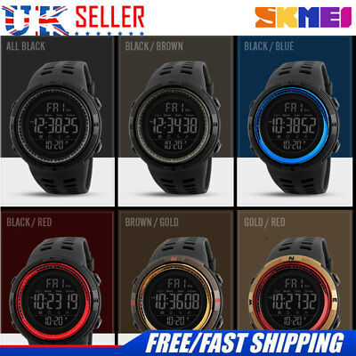 SKMEI Mens Military Style Army Walking Sports Waterproof Watch 6 Color