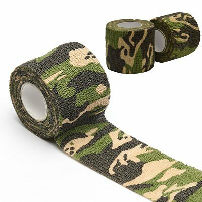 Stretchy Strong Waterproof Cloth Tape Self Adhesive Camouflage Repair Bandage