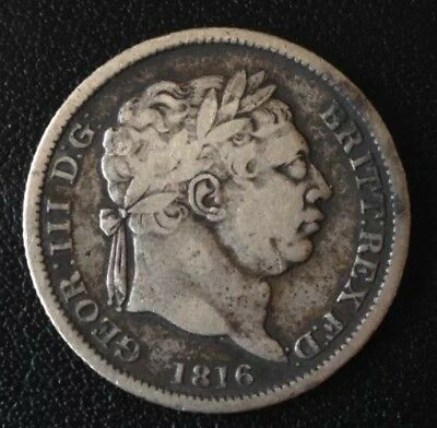 1816 George III Shilling Silver Coin