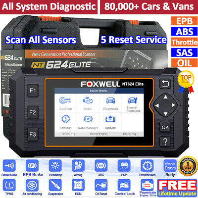 Launch CR619 Car OBD2 Scanner ABS SRS Read & Clear Fault Code Reader Diagnostic