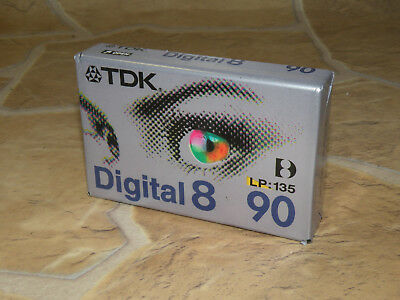 tdk digital 8 d8-90eb  CAMCORDER TAPE / KASSETTE LP 135 / SP 90  - NEU