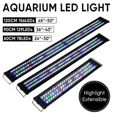 60 90 120cm Aquarium LED Light Lighting Full Spectrum Aqua Plant Fish Tank Lamp