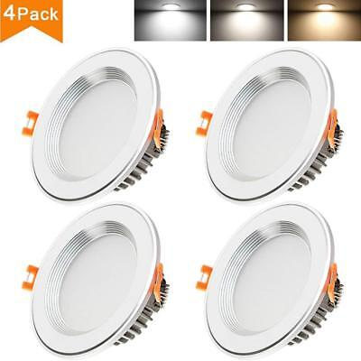 Betorcy 3 Inch LED Downlight 3 Colors Changing Ceiling Light White / Neutral WHT