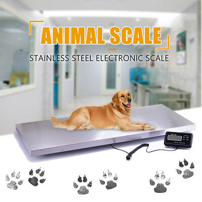 LCD Digital Pet Platform Scale Weighing Veterinary Waterproof Stainless Steel