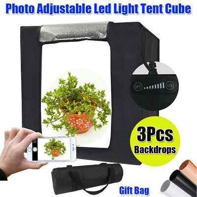 Photo Studio Portable Adjustable LED Light Room Tent Cube Soft Box Lighting Kit