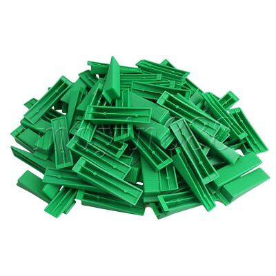 100xGreen Plastic Floor Tile Spacer Wedges Leveling System Part for Home