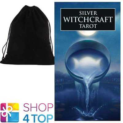Silver Witchcraft Tarot Deck Cards Esoteric Lo Scarabeo With Velvet Bag New
