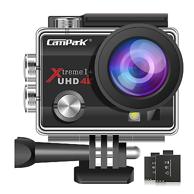 Campark ACT74 Action Camera 16MP 4K WiFi Waterproof Sports Cam 170 Degree Ultra