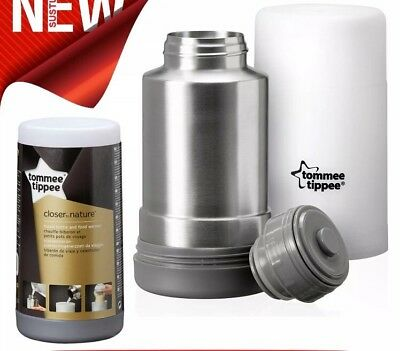Tommee Tippee Closer to Nature Travel Bottle and Food Warmer│ Flask Compact│New