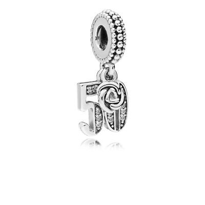 Genuine Pandora 50th Anniversary Pendant Charm 50 Years of Love Charm