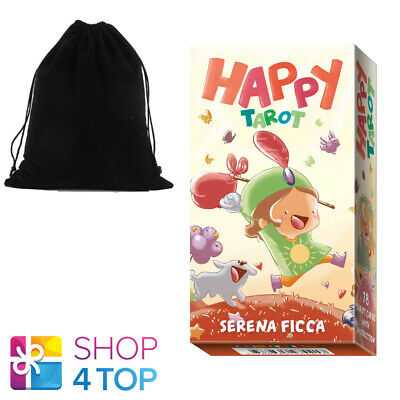 Happy Tarot Deck Cards Ficca Esoteric Telling Lo Scarabeo With Velvet Bag New